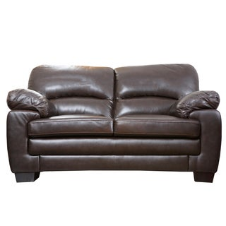 Abbyson Living Charleston Premium Top-grain Leather Loveseat