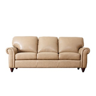 Abbyson Living Parker Premium Top Grain Leather Sofa