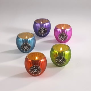 Jeweled Votive Holder - set of 2