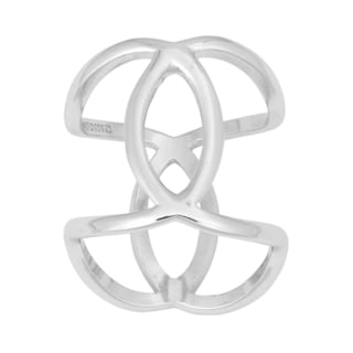 La Preciosa Sterling Silver Interlocking Oval Large Ring