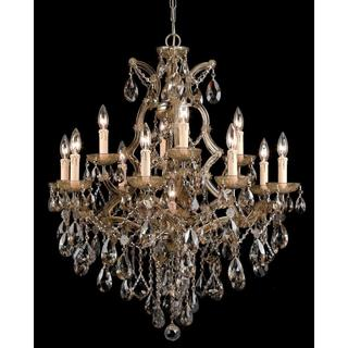Crystorama Maria Theresa 13-light Antique Brass Chandelier