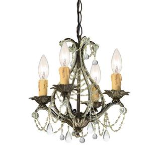 Crystorama Abigail 4-light Birch Chandelier