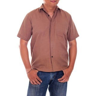 Men's Cotton 'Lombok Cinnamon' Shirt (Indonesia)