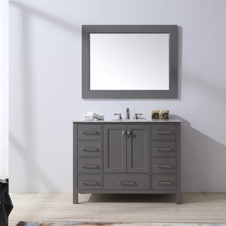 Malibu Gray Single Sink Bathroom Vanity With 47-inch Mirror