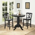 Dorel Living Aubrey Black Counter Height Dining Set (Set of 3)