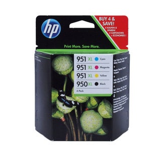 HP 950XL 951XL Four Pack Ink Cartridge Combo
