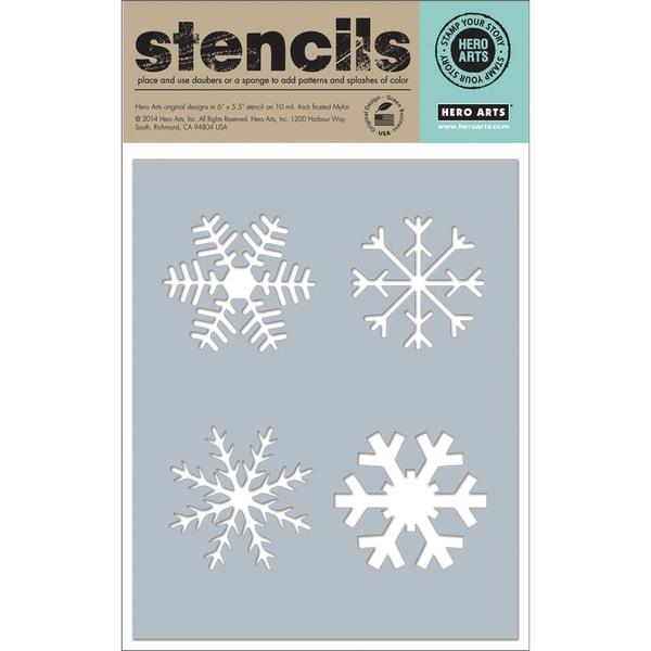 "Hero Arts Stencils 6.25""X5.25""-Four Snowflakes"