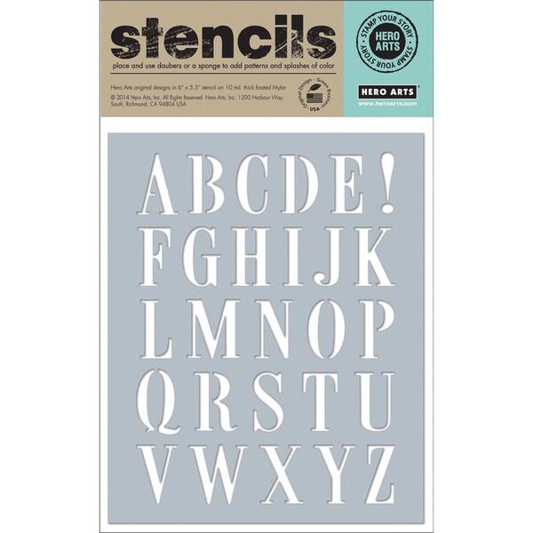 "Hero Arts Stencils 6.25""X5.25""-Subway Letters"