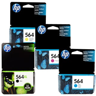 HP 564XL Black and HP 564 Color Ink Cartridges (Pack of 4)