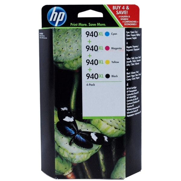 HP 940XL Combo Pack Ink Cartridges for Officejet Pro 8000, 8500
