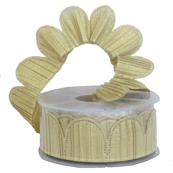 Margherita Plisse Metallic Confetti Ribbon