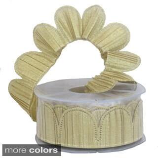 Margherita Plisse Metallic Confetti Ribbon