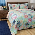 Greenland Home Fashions Mystic Cotton 3-piece Quilt Set