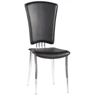 Somette Tina Black Modern Side Chair (Set of 6)