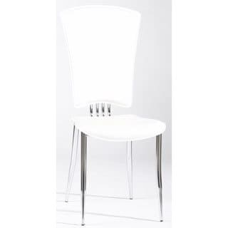 Somette Tina White Modern Side Chair (Set of 6)