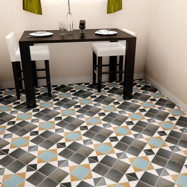 Somertile 13x13 inch narcissus nouveau ceramic floor and for 13 inch ceramic floor tile