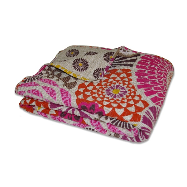 Greenland Home Fashions Bianca Quilted Cotton Throw