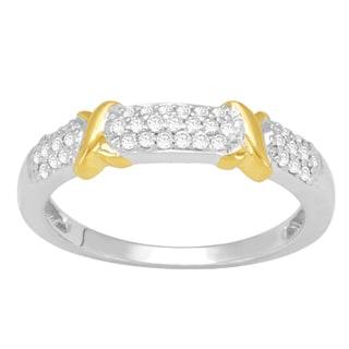 10k Yellow Gold 1/4ct TDW Diamond Fashion Ring (H-I, I2-I3)