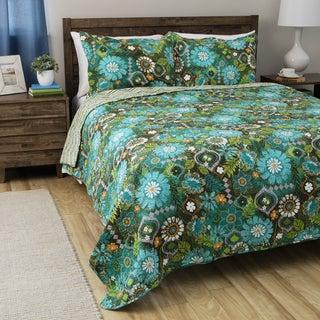 Tiki Hut Cotton 3-piece Quilt Set