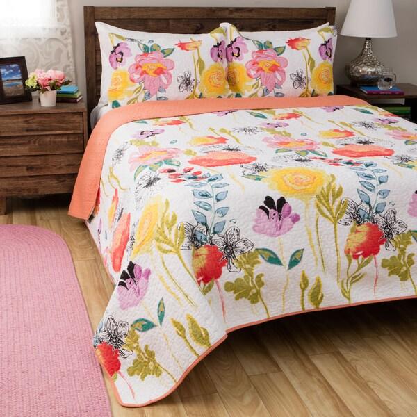 Greenland Home Fashions Watercolor Dream 3-piece Cotton ...