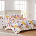 Greenland Home Fashions Watercolor Dream 3-piece Cotton Quilt Set