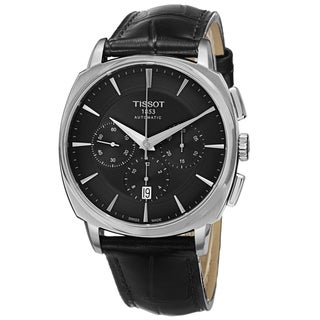 Tissot Men's T059.527.16.051.00 'T Lord' Black Dial Stainless Steel Chronograph Automatic Watch