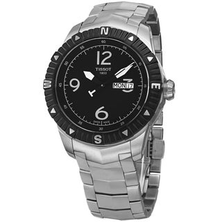 Tissot Men's T062.430.11.057.00 'T Navigator' Black Dial Stainless Steel DateDay Automatic Watch