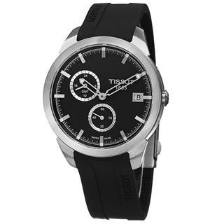 Tissot Men's T069.439.47.061.00 'T Sport' Black Dial Black Rubber Strap Titanium GMT Watch
