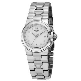 Tissot Women's T080.210.11.016.00 'T Sport' White Diamond Dial Stainless Steel Quartz Watch