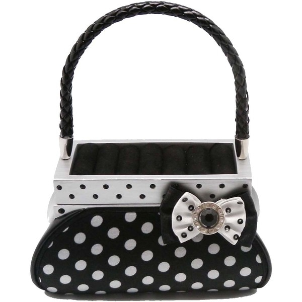 Polka Dot Purse Rings Holder