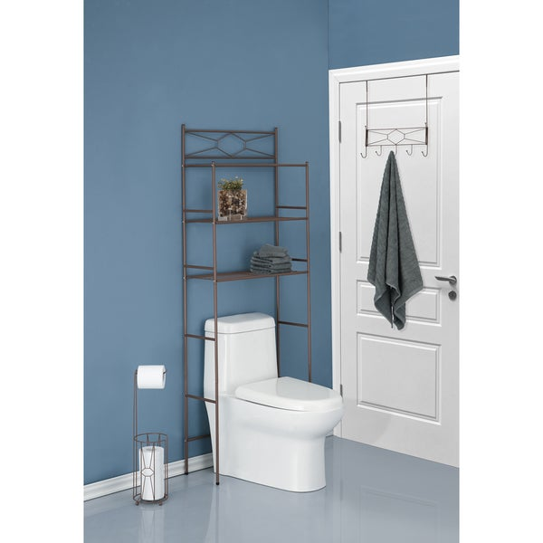 Three piece diamond design combo bathroom storage kit for 3 piece bathroom designs