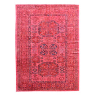 Hand-knotted Pink Overdyed Super Kazak Wool Area Rug (6'10 x 9'8)
