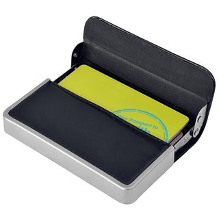 INSTEN Professional Stainless Steel Leather Pocket Business Credit Card Holder Case