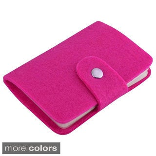 INSTEN Felted Wool Pocket Business Credit Card Holder Case Wallet