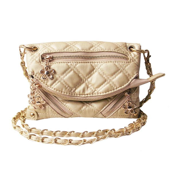 Olivia Miller Quilted Zipper Crossbody Club Bag