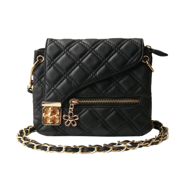 Olivia Miller Quilted Turn Lock Crossbody