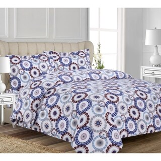 Medallion Flannel 3-piece Duvet Cover Set