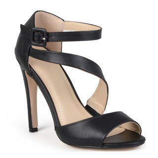 Journee Collection Women's 'Hun' Strappy Open Toe Pumps