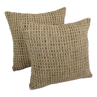 Blazing Needles 20-inch Woven Rope Corded Pillows (Set of 2)