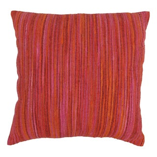 Blazing Needles 20-inch Red Palette Striped Throw Pillow