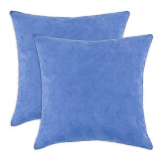 Passion Suede Soft Blue 17-inch Decorative Throw Pillows (Set of 2)