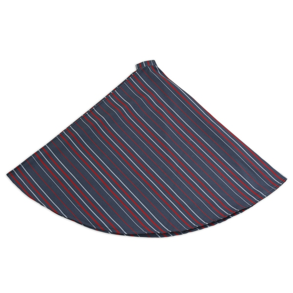 Multi Stripe Hemmed 53-inch Round Tree Skirt