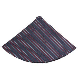 Multi Stripe Hemmed 53-inch Round Tree Skirt