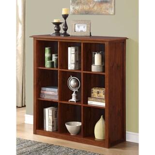 Collins Mahogany Brown 9-cube Bookcase