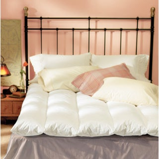 Natural 100-percent Cotton Baffle-channel Featherbed and Cover King Set (As Is Item)