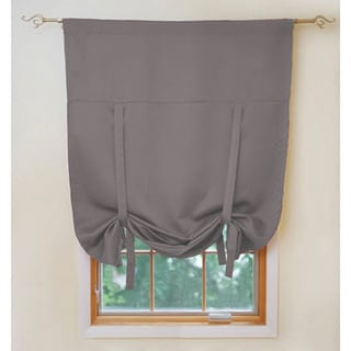 Solid Insulated 40x63-inch Blackout Tie Up Shade in Grey (As Is Item)