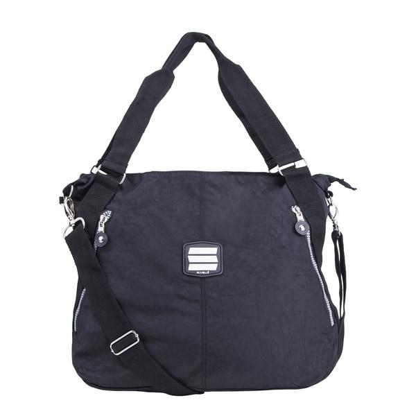 Suvelle Crinkle Nylon Water-resistant Large Tote Bag