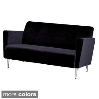 Memphis Velvet/ Chrome Sofa Chair