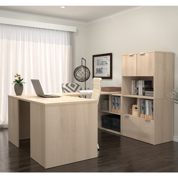 I3 By Bestar U Shaped Desk With 2 Storage Units 16924456