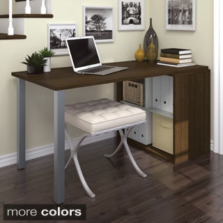 Bestar Flare L Shaped Desk In Tuscany Brown 15094728